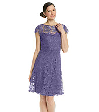Marina Full Skirt Lace Dress