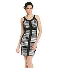 Jax Banded Striped Halter Dress