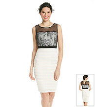 Jax Banded Jersey Dress With Lace