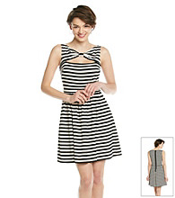 Betsey Johnson® Striped Cutout Dress