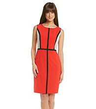 Calvin Klein Contrast Piped Dress