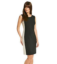 Calvin Klein Contrast Side Panel Dress