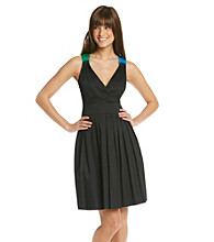 Calvin Klein Surplice Full Skirt Dress