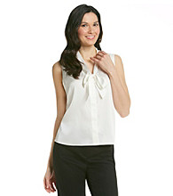 Anne Klein® Sleevless Tie Neck Blouse