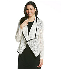 NY Collection All Over Lace Jacket