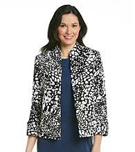 Evan-Picone® Stand Collar Printed Jacket
