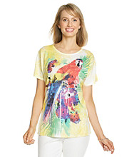Breckenridge® Petites' Short Sleeve Sublimation Print Tee