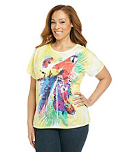 Breckenridge® Plus Size Short Sleeve Sublimation Print Tee