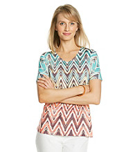 Breckenridge® Short Sleeve Chevron Print Tee