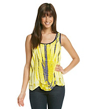 Nine West Vintage America Collection® Scoopneck Posy Tie-Dye Tank