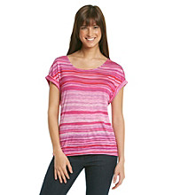 Nine West Vintage America Collection® Short Sleeve Scoopneck Freesia Striped Tee