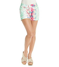 Nine West Jeans Kingston Floral Twill Short