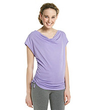Marc New York Andrew Marc® Performance Drapeneck Cinched Tee