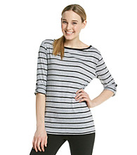 Calvin Klein Performance Pencil Stripe Boatneck Tee