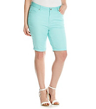 Ruff Hewn Plus Size Colored Denim Bermuda Short