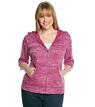Ruff Hewn Plus Size Burnout French Terry Zip Hoodie