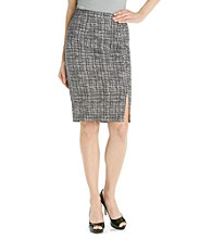 Rafaella® Black Plaid Pique Skirt
