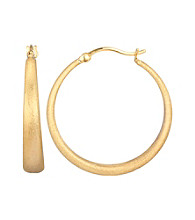 14K Hamilton Color Scratch Hoop Earring