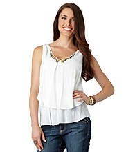 Democracy Tiered Embellished Top