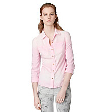 Calvin Klein Jeans® Oxford Chambray Blouse