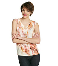 Calvin Klein Printed Extended Shoulder Top