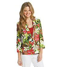 Chaus Single Button Floral Jacket