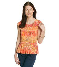 Vince Camuto® Peplum Artists Streaks Top