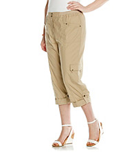 Laura Ashley® Plus Size Cargo Crop