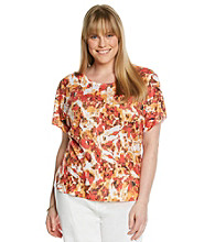 Laura Ashley® Plus Size Scratch Rose Tee