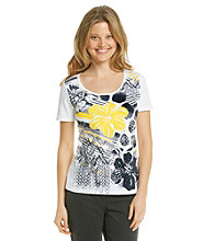Laura Ashley® Hibiscus Floral Tee
