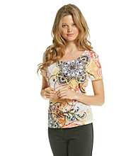 Laura Ashley® Medallion Scroll Tee