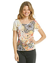 Laura Ashley® Petites' Medallion Scroll Tee