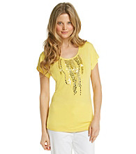 Laura Ashley® Beaded Waterfall Top