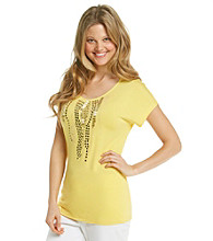 Laura Ashley® Petites' Beaded Waterfall Top