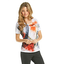 Laura Ashley® Painted Plaid Tee