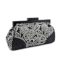 Koret™ Paisley Prined Top Framed Clutch