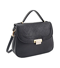 Koret™ Perforated Leather Half Flap Satchel