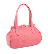 Koret™ Perforated Leather Double Handle Satchel