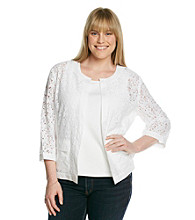 Rafaella® Plus Size Lace Front Jacket