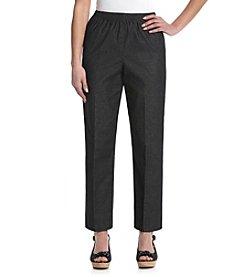 Alfred Dunner® Petites' Black Denim Elastic Waist Pant