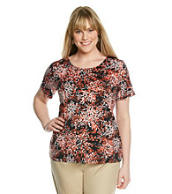 Notations® Plus Size Print Top