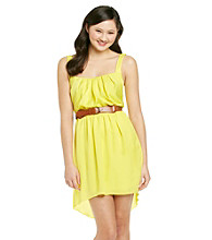 City Triangles® Juniors' Hi-Low Belted Dress