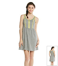 Kensie® French Terry Pop Trimmed Dress