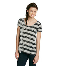 Kensie® Striped Tee
