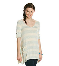Blu Pepper™ Slub Knit Striped Tee