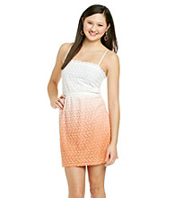 Sequin Hearts® Juniors' Lace Ombre Dress