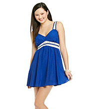 Chord® Juniors' Crochet Trim Dress