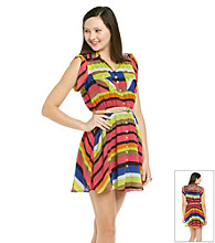 XOXO® Juniors' Multi Stripe Dress