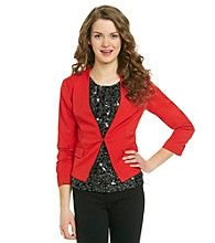 XOXO® Juniors' Ruched Sleeve Jacket