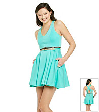 XOXO® Juniors' Criss Cross Swing Dress